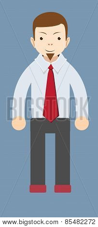 Cartoon smiling businessman. Vector