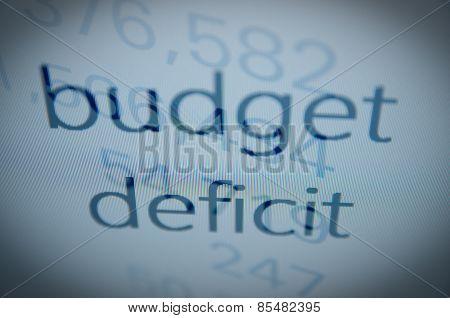 Budget deficit