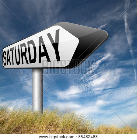 saturday week next or following day schedule concept for appointment or event in agenda