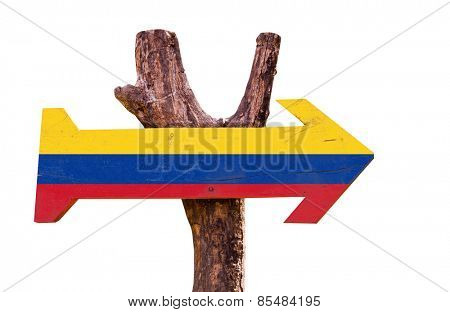 Colombia sign isolated on white background