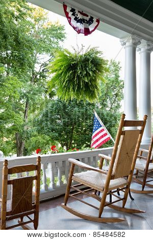 Comfortable Wooden Rocking Chair To Enjoy 4Th July