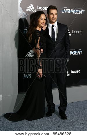 NEW YORK-MAR 16: Actress Maggie Q (L) and Dylan McDermott attend the U.S. premiere of
