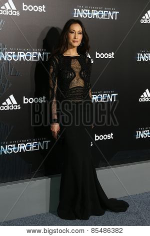 NEW YORK-MAR 16: Actress Maggie Q attends the U.S. premiere of