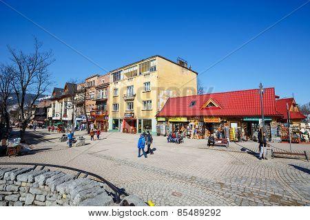 Krupowki Street In Zakopane