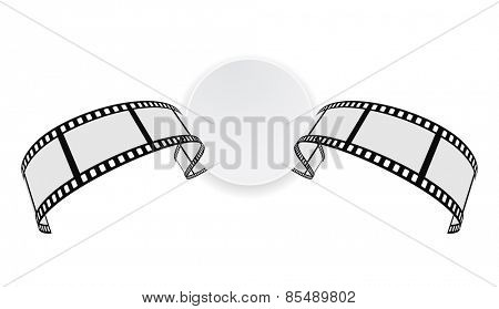 film strip round banner design