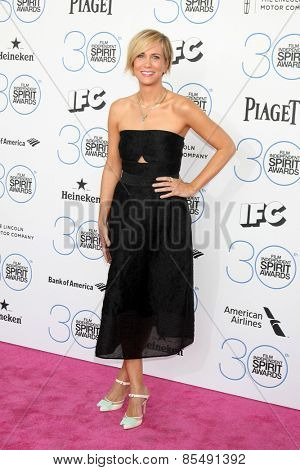 LOS ANGELES - FEB 21:  Kristen Wiig at the 30th Film Independent Spirit Awards at a tent on the beach on February 21, 2015 in Santa Monica, CA