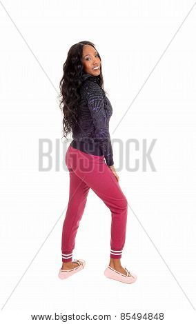 Black Girl In Pink Tights.