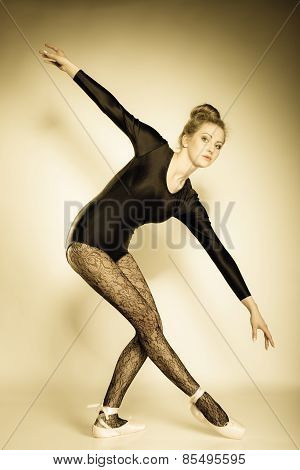 Graceful Woman Ballet Dancer Full Length
