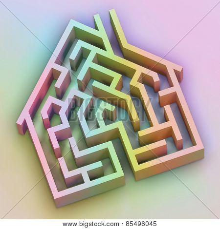 Rainbow House Maze