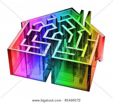 Rainbow Glass House Maze