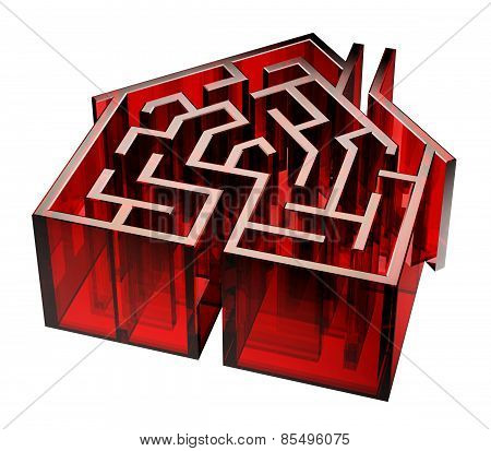 Red Glass House Maze