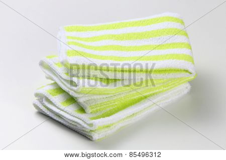 Hand towel on the white background