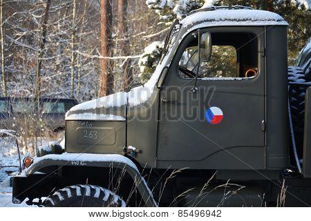 Old Czechoslovak Military Truck Praga V3S