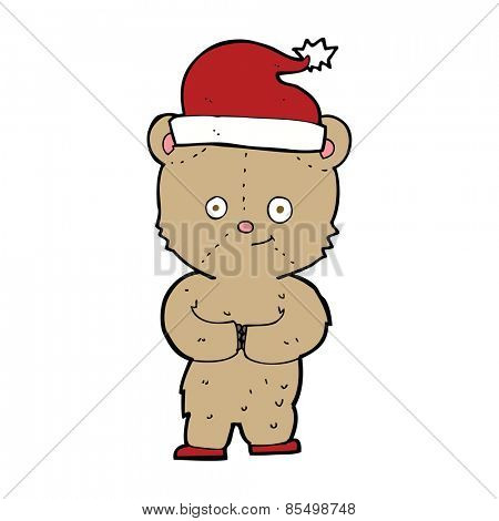 cartoon christmas teddy bear