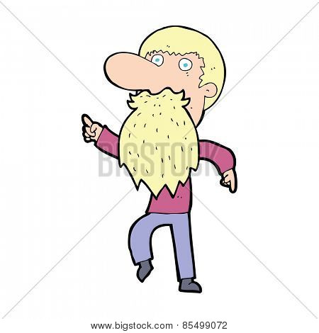 cartoon man wearing fake beard