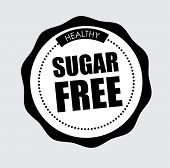 foto of free-trade  - Sugar free over gray background - JPG
