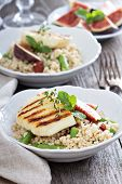 stock photo of tabouleh  - Couscous salad with green beans - JPG