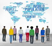 pic of population  - World Population Global People Community International Concept - JPG