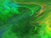 stock photo of psychodelic  - Abstract shapes made of fractal textures - JPG