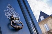 picture of bordeaux  - Door knocker of an old mansion in Bordeaux France - JPG