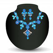 picture of precious stone  - illustration of woman - JPG