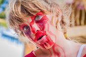 picture of scary face  - young kid  - JPG