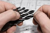 image of drill bit  - set of drill bits for electric screwdriver - JPG