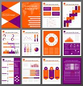 picture of diagram  - Infographic brochure and flyer design templates set