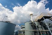 stock photo of slag  - Rainwater treatment plant  - JPG