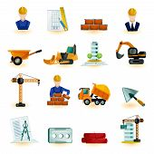 image of elevator icon  - Architect industrial and construction engineer decorative icons set isolated vector illustration - JPG