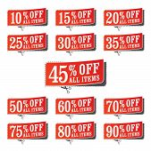 picture of coupon  - A set of retail themed coupons for a sale - JPG