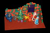 pic of rabbit year  - plasticine rabbits decorate a Christmas tree for the arrival of Santa Claus - JPG