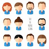 foto of avatar  - Set of colorful office people icons - JPG