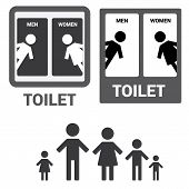 image of toilet  - Black Square Toilet Sign with Toilet - JPG