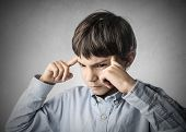 picture of thinker  - Child thinking of something  - JPG