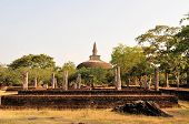 foto of vihara  - Rankoth Vihara is a Buddhist Stupa in the ancient city and former capital of Polonnaruwa - JPG