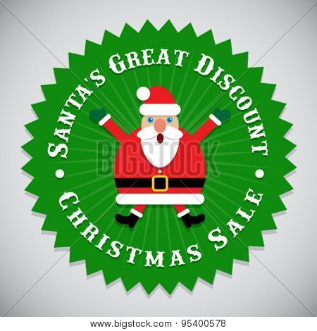 Santa's Great Discount Christmas Sale Seal
