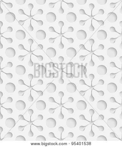 Seamless Snowflake Pattern. Vector Soft Background. Regular White Texture