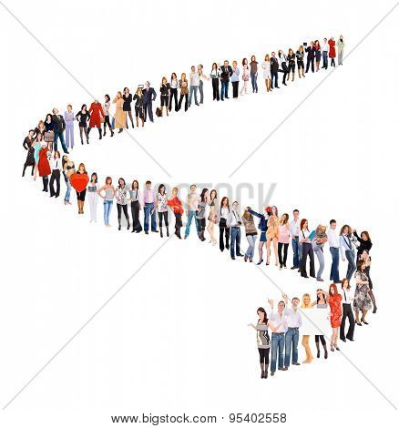 Together we Stand People in Queue