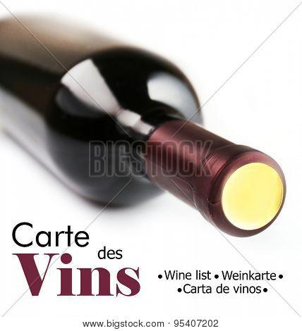 Wine bottle isolated on white