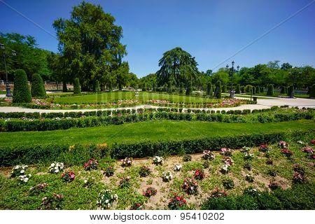 Park del Retiro landscape in Madrid, Spain