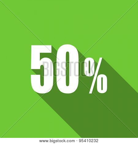 50 percent flat icon sale sign original modern design flat icon for web and mobile app with long shadow