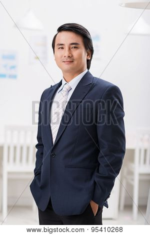 Successful satisfied businessman