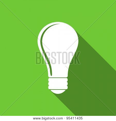 bulb flat icon idea sign original modern design flat icon for web and mobile app with long shadow