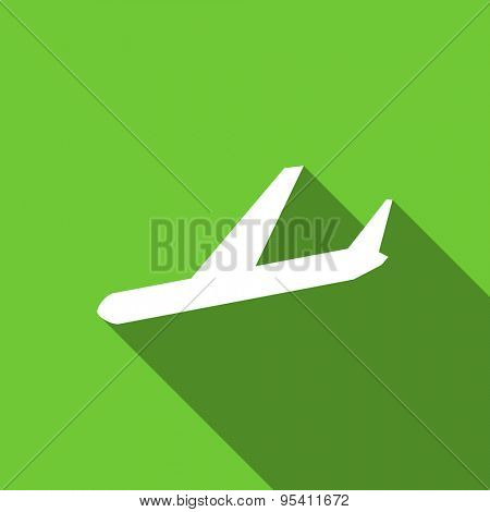 arrivals flat icon plane sign original modern design flat icon for web and mobile app with long shadow
