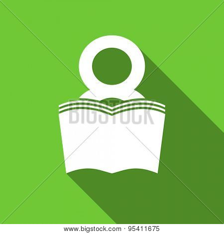 book flat icon reading room sign bookshop symbol original modern design flat icon for web and mobile app with long shadow