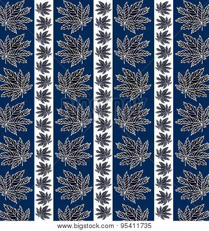 pattern of dark leaves