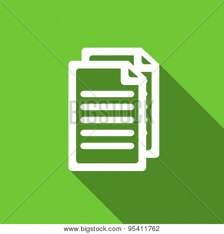 document flat icon pages sign original modern design flat icon for web and mobile app with long shadow