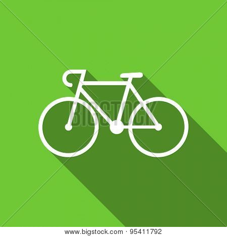 bicycle flat icon bike sign original modern design flat icon for web and mobile app with long shadow