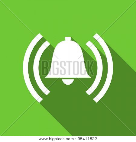 alarm flat icon alert sign bell symbol original modern design flat icon for web and mobile app with long shadow